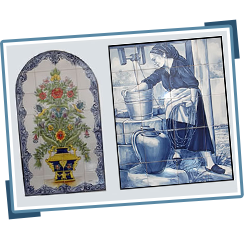 Portuguese Hand-Painted Tile Murals, Azulejos