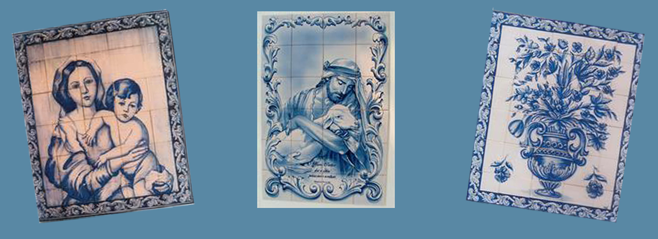 Portuguese Tile Art - Blue and White Azulejos