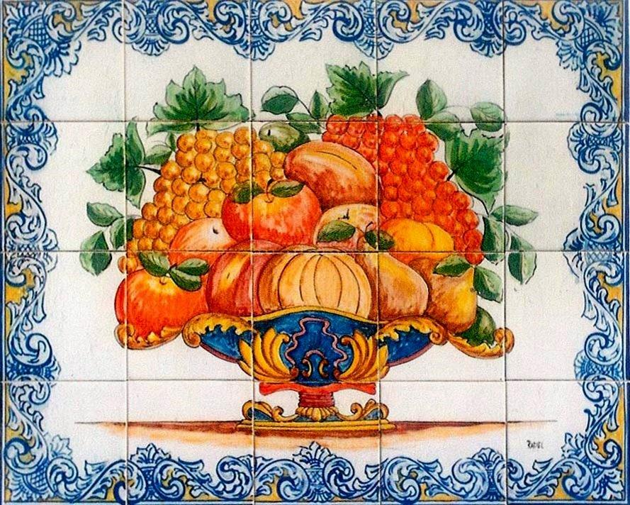Portuguese Tiles and Murals - Florals, Vases, Baskets and Bird Themes